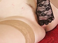 Katenka wants to play alone with her pussy but she needs attention. Stay with her and enjoy watching this sexy mature gaping her cunt and then how she inserts that sex toy in her cunt. She slides it deep inside her pussy and wishes for something bigger and harder. Does she has a big bad dildo to use?